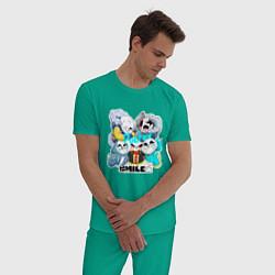 Пижама хлопковая мужская UNDERTALE цвета зеленый — фото 2
