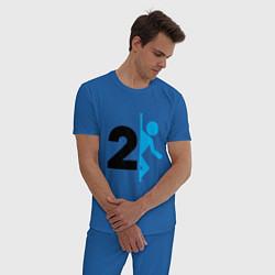 Пижама хлопковая мужская PORTAL цвета синий — фото 2