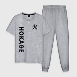 Пижама хлопковая мужская NARUTO HOKAGE SQUAD цвета меланж — фото 1