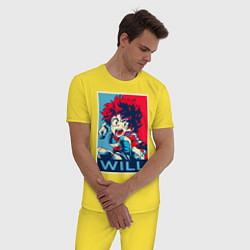 Пижама хлопковая мужская My Hero Academia цвета желтый — фото 2