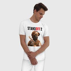 Пижама хлопковая мужская STANDOFF 2 цвета белый — фото 2