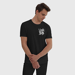 Пижама хлопковая мужская Виктор Цой цвета черный — фото 2
