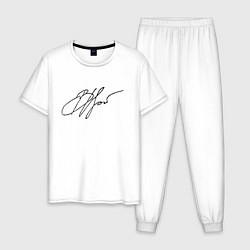 Пижама хлопковая мужская ВЦой Автограф цвета белый — фото 1