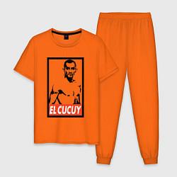 Пижама хлопковая мужская EL CUCUY цвета оранжевый — фото 1