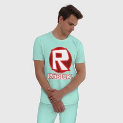 Пижама хлопковая мужская ROBLOX цвета мятный — фото 2
