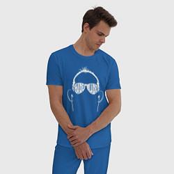 Пижама хлопковая мужская Tony Ferguson цвета синий — фото 2