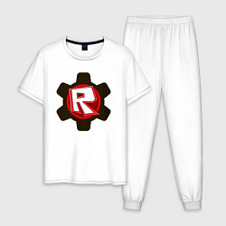Пижама хлопковая мужская ROBLOX цвета белый — фото 1