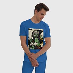 Пижама хлопковая мужская God of wind цвета синий — фото 2