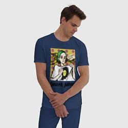 Пижама хлопковая мужская ПОШЛАЯ МОЛЛИ цвета тёмно-синий — фото 2