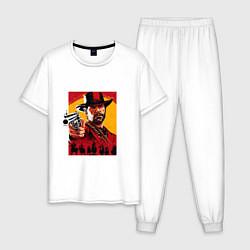 Пижама хлопковая мужская Red Dead Redemption 3d цвета белый — фото 1