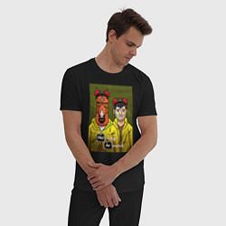 Пижама хлопковая мужская BoJack Horseman цвета черный — фото 2