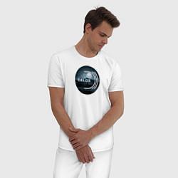 Пижама хлопковая мужская Delos цвета белый — фото 2