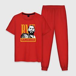Пижама хлопковая мужская Gamebred цвета красный — фото 1