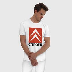 Пижама хлопковая мужская CITROEN цвета белый — фото 2