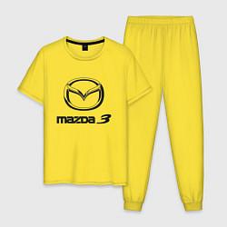 Пижама хлопковая мужская MAZDA 3 Black цвета желтый — фото 1