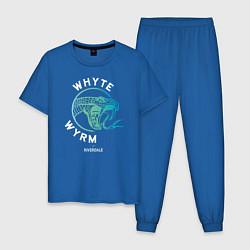 Пижама хлопковая мужская WHYTE WYRM цвета синий — фото 1