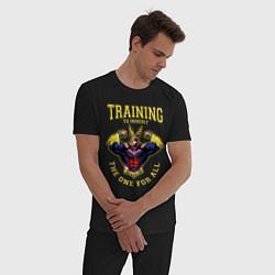 Пижама хлопковая мужская Моя геройская академия цвета черный — фото 2