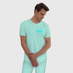 Пижама хлопковая мужская NILETTO цвета мятный — фото 2