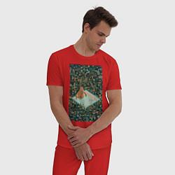 Пижама хлопковая мужская BoJack Horseman цвета красный — фото 2