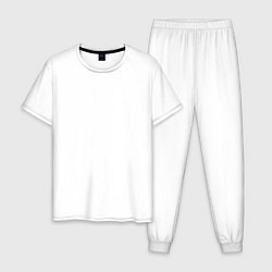 Пижама хлопковая мужская OVERLORD цвета белый — фото 1