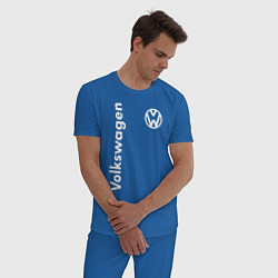 Пижама хлопковая мужская Volkswagen цвета синий — фото 2