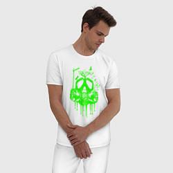 Пижама хлопковая мужская ATOMIC DREAM цвета белый — фото 2