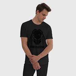 Пижама хлопковая мужская PREDATOR цвета черный — фото 2