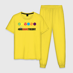 Пижама хлопковая мужская Big Bang Theory цвета желтый — фото 1