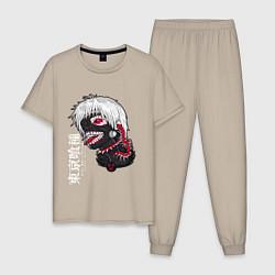 Пижама хлопковая мужская TOKYO GHOUL цвета миндальный — фото 1