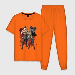 Пижама хлопковая мужская Kitana Liu Kang цвета оранжевый — фото 1