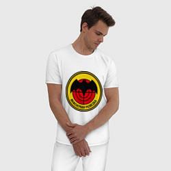 Пижама хлопковая мужская Инженерная разведка цвета белый — фото 2