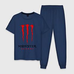 Пижама хлопковая мужская MONSTER ENERGY цвета тёмно-синий — фото 1