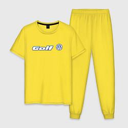Пижама хлопковая мужская Volkswagen Golf Z цвета желтый — фото 1