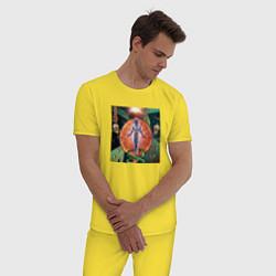 Пижама хлопковая мужская GONE Fludd VOODOO CHILD цвета желтый — фото 2