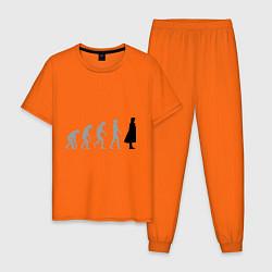 Пижама хлопковая мужская Sherlock evolution цвета оранжевый — фото 1