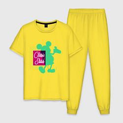 Пижама хлопковая мужская Mickey Classic цвета желтый — фото 1