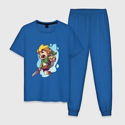 Пижама хлопковая мужская The Legend of Zelda цвета синий — фото 1