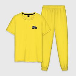 Пижама хлопковая мужская HOT ROD, Классика, Авто цвета желтый — фото 1