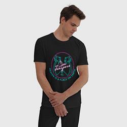 Пижама хлопковая мужская Чёрное зеркало цвета черный — фото 2