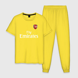 Пижама хлопковая мужская ARSENAL цвета желтый — фото 1