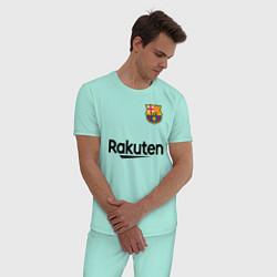 Пижама хлопковая мужская BARCELONA цвета мятный — фото 2