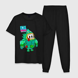 Пижама хлопковая мужская Fall Guys Ultimate Knockout цвета черный — фото 1
