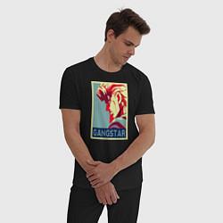 Пижама хлопковая мужская GANSTAR цвета черный — фото 2