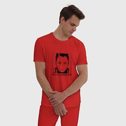 Пижама хлопковая мужская Nara Shikamaru цвета красный — фото 2