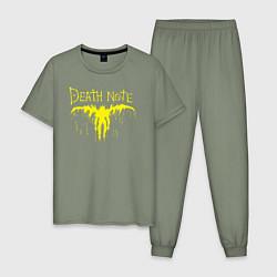 Пижама хлопковая мужская Death Note цвета авокадо — фото 1