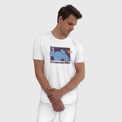 Пижама хлопковая мужская Джинн цвета белый — фото 2