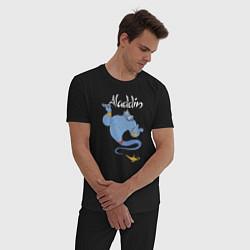 Пижама хлопковая мужская Джинн цвета черный — фото 2