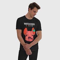 Пижама хлопковая мужская WATCH DOGS LEGION цвета черный — фото 2