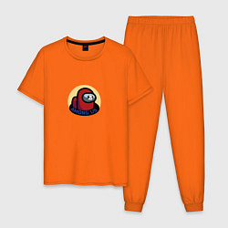 Пижама хлопковая мужская Among Us Череп цвета оранжевый — фото 1