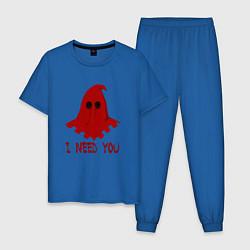 Пижама хлопковая мужская Палач цвета синий — фото 1